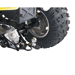 Moose Three-Way Hitch - 2002 Yamaha KODIAK 400 2X4 Moose 393X Front Wheel - 12X7 4B+3N Black