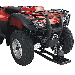 Moose Push Tube Hitch - 2006 Honda TRX500 FOREMAN 4X4 ES Moose 393X Front Wheel - 12X7 4B+3N Black