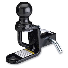 "Moose Trio HD Hitch With Ball Mount - 1-1/4"" - 2012 Can-Am COMMANDER 1000 X Moose 393X Center Cap"