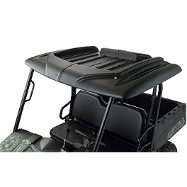 Moose Universal UTV 2-Piece Roof - 2006 Kawasaki BRUTE FORCE 650 4X4 (SOLID REAR AXLE) Moose Handguards - Black