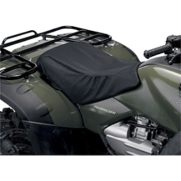 Moose Cordura Seat Cover - 2004 Suzuki EIGER 400 2X4 SEMI-AUTO Quad Works Gripper Seat Cover - Black