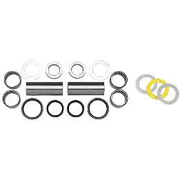 Moose Swingarm Bearing Kit - 2004 Yamaha WOLVERINE 350 Moose 393X Front Wheel - 12X7 4B+3N Black