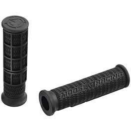 Moose Stealth ATV Grips - Thumb Throttle - Moose Vent Cap