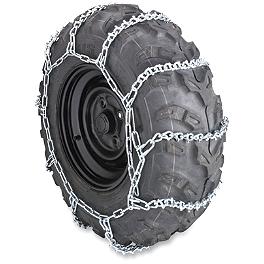 Moose Tire Chains - 2004 Polaris RANGER 500 4X4 Moose 393X Front Wheel - 12X7 4B+3N Black