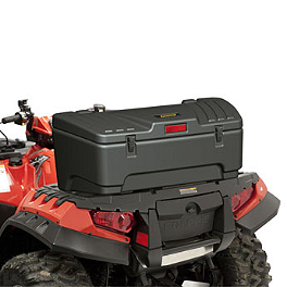 Moose Rear Storage Trunk - 2006 Kawasaki BRUTE FORCE 650 4X4 (SOLID REAR AXLE) Moose Plow Push Tube Bottom Mount
