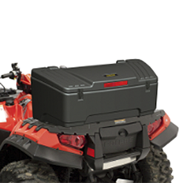 Moose Oversized Rear Storage Trunk - 2008 Kawasaki BRUTE FORCE 650 4X4 (SOLID REAR AXLE) Moose Plow Push Tube Bottom Mount