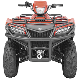 Moose Utility Front Bumper - 2008 Suzuki KING QUAD 750AXi 4X4 Moose Handguards - Black