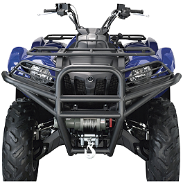 Moose Utility Front Bumper - 2011 Yamaha GRIZZLY 550 4X4 POWER STEERING Moose Handguards - Black