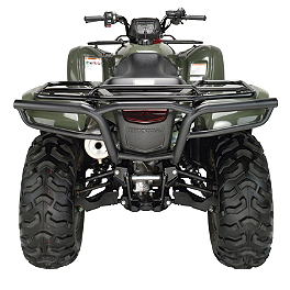 Moose Utility Rear Bumper - 2009 Honda RANCHER 420 4X4 POWER STEERING Moose Handguards - Black