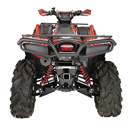 Moose Utility Rear Bumper - 2008 Kawasaki BRUTE FORCE 650 4X4 (SOLID REAR AXLE) Quadboss Fender Protectors - Wrinkle