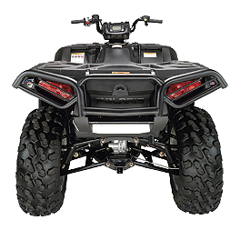 Moose Utility Rear Bumper - 2009 Polaris SPORTSMAN XP 550 EFI 4X4 WITH EPS Quadboss Fender Protectors - Wrinkle