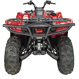 Moose Utility Rear Bumper - 2010 Yamaha GRIZZLY 550 4X4 POWER STEERING Moose Handguards - Black