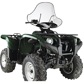 NRA By Moose Universal Windshield - Quadboss Quick Release Universal Windshield Without Headlight Cutout