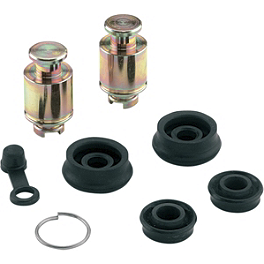 Moose Wheel Cylinder Repair Kit - 1999 Honda TRX400 FOREMAN 4X4 Moose 393X Front Wheel - 12X7 4B+3N Black