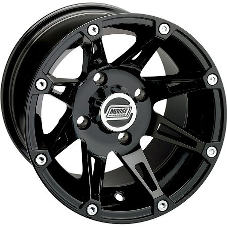Moose 387X Front Wheel - 12X7 4B+3N Black - Main