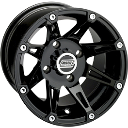 Moose 387X Front Wheel - 12X7 4B+3N Black - 2008 Yamaha GRIZZLY 350 2X4 Moose 387X Rear Wheel - 12X8 2B+6N Black