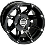 Moose 387X Front Wheel - 12X7 4B+3N Black - MOOSE-FOUR Moose Utility ATV