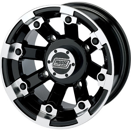 Moose 393X Front Wheel - 12X7 4B+3N Black - Main