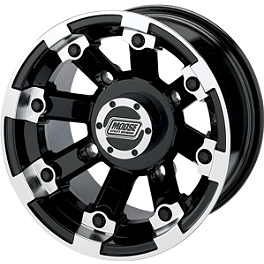 Moose 393X Front Wheel - 12X7 4B+3N Black - 2013 Suzuki KING QUAD 500AXi 4X4 POWER STEERING Moose 393X Center Cap