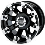 Moose 393X Front Wheel - 12X7 4B+3N Black - MOOSE-FOUR Moose Utility ATV