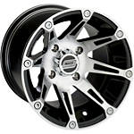 Moose 387X Rear Wheel - 12X8 4B+4N Machined - Moose ATV Wheels
