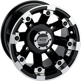 Moose 393X Rear Wheel - 12X8 4B+4N Black - 2014 Yamaha GRIZZLY 450 4X4 POWER STEERING Moose 393X Front Wheel - 12X7 4B+3N Black