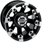 Moose 393X Rear Wheel - 12X8 4B+4N Black - MOOSE-FOUR Moose Utility ATV