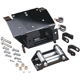 Moose Winch Mount Kit - 2005 Kawasaki BRUTE FORCE 650 4X4 (SOLID REAR AXLE) Warn Winch Mounting System