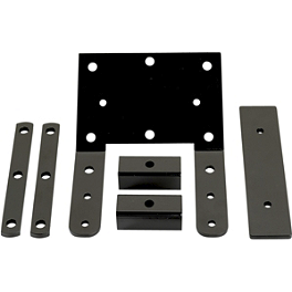 Moose Winch Mount Kit - 2004 Polaris ATP 500 H.O. 4X4 Moose Handguards - Black