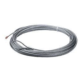 "Moose Winch Wire Rope - 5/32"" X 50' - 2002 Kawasaki PRAIRIE 650 4X4 Moose 393X Front Wheel - 12X7 4B+3N Black"