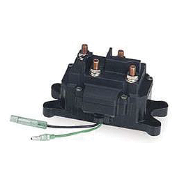 Moose Winch Replacement Contactor/Solenoid - 2001 Yamaha KODIAK 400 2X4 Moose 393X Front Wheel - 12X7 4B+3N Black