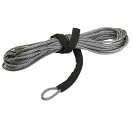 Moose Winch Replacement Synthetic Rope - 50' - 2010 Polaris RANGER 500 HO 4X4 Moose 393X Front Wheel - 12X7 4B+3N Black