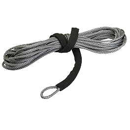 "Moose Winch Synthetic Rope - 3/16"" X 50' - 2000 Kawasaki PRAIRIE 400 4X4 Moose 393X Front Wheel - 12X7 4B+3N Black"