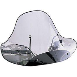 Moose Universal Windshield With Headlight Cutout - Moose Handguards - Black