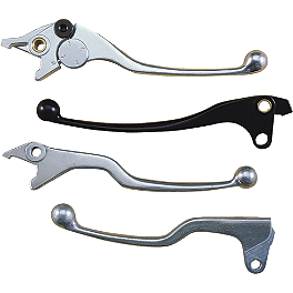 Motion Pro Brake Lever - Polished - 2001 Yamaha V Star 650 Custom - XVS650 Vesrah Racing Semi-Metallic Brake Shoes - Rear