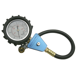 Motion Pro Air Pressure Tire Gauge - 0-60 PSI - BikeMaster Dial Type Air Pressure Tire Gauge With Hose - 0-60 PSI