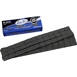 Motion Pro Steel Wheel Weights 18oz - Black - BikeMaster Adhesive Wheel Weights - 11oz