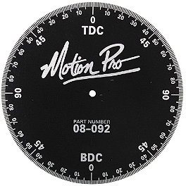 Motion Pro Timing Degree Wheel - BikeMaster Aluminum Timing Degree Wheel