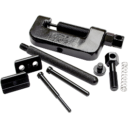 Motion Pro Chain Breaker/Press/Riveting Tool - DID 525 VM2 X-Ring Gold Master Link - Rivet Style