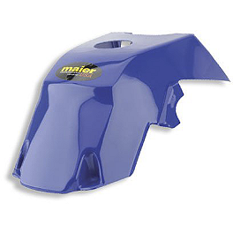 Maier Gas Tank Cover - Yamaha - 1996 Yamaha WARRIOR Quad Works Standard Seat Cover - Blue