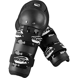 2013 MSR Youth Gravity Knee / Shin Guards - 2012 Fly Racing Youth Flex II Knee Guards