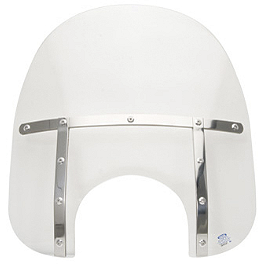 "Memphis Shades 19"" Memphis Fats Without Mount - 1999 Yamaha V Star 650 Custom - XVS650 Memphis Shades Trigger-Lock Mounting Kit For Fats And Slim Windshields"