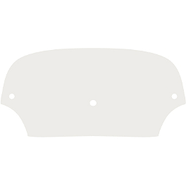 "Memphis Shades Batwing Fairing 9"" Windshield - Memphis Shades Malibu Replacement Plastic"