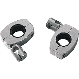 "Memphis Shades Handlebar Clamps With 3/8"" Rod Holders For 1"" And 7/8"" Bars - 1997 Kawasaki Vulcan 800 Classic - VN800B Memphis Shades Trigger-Lock Mounting Kit For Sportshields"