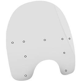 "Memphis Shades 21"" Memphis Fats Replacement Plastic - 2002 Kawasaki Vulcan 800 Classic - VN800B Memphis Shades Trigger-Lock Mounting Kit For Fats And Slim Windshields"