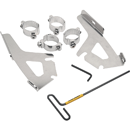 Memphis Shades Quick-Change Mounting Kit For Fats And Slim Windshields - 2003 Honda Shadow Spirit 1100 - VT1100C Memphis Shades Trigger-Lock Plate-Only Kit For Fats And Slim Windshields