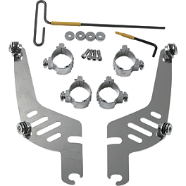 Memphis Shades Quick-Change Mounting Kit For Sportshields - 1997 Suzuki Savage 650 - LS650P Memphis Shades Quick-Change Plate-Only Kit For Fats And Slim Windshields