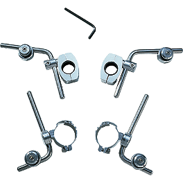 Memphis Shades Replacement Mounting Hardware Kit For Santa Fe, Santa Cruz, Vera Cruz And Raodmaster Windshields - 2009 Yamaha Road Star 1700 Silverado S - XV17ATS Memphis Shades Trigger-Lock Mounting Kit For Fats And Slim Windshields