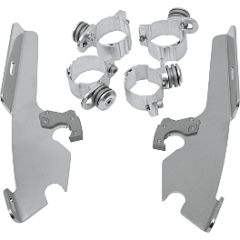 Memphis Shades Trigger-Lock Mounting Kit For Fats And Slim Windshields - 2008 Yamaha V Star 1100 Classic - XVS11A Yamaha Star Accessories Low Windshield Assembly