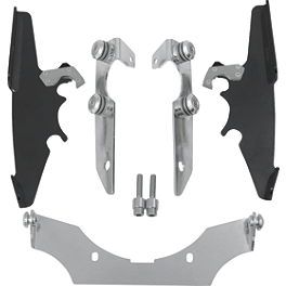 Memphis Shades Trigger-Lock Mounting Kit For Batwing Fairing - Black - 2007 Honda Shadow Aero 750 - VT750CA Memphis Shades Batwing Fairing Without Mounts